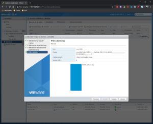 Création vmfs Vmware Esxi depuis interface web etape 4 Prêt à terminer