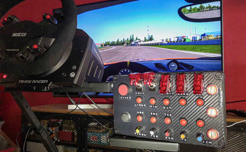 image de mise en avant pour l'article Button box arduino pour simracing